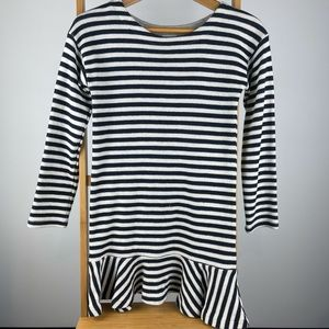 SEED Heritage Girl's Striped Navy Dress - Size 10